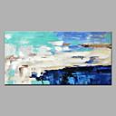 זול ציורי שמן-ציור שמן צבוע-Hang מצויר ביד - מופשט מודרני בַּד