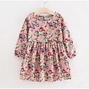 cheap Girls' Dresses-Kids Girls' Basic Floral Long Sleeve Dress Pink