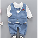 cheap Baby Boys' One-Piece-Baby Boys' Plaid Long Sleeve Clothing Set