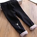 ieftine Pantaloni Fete & Leginși-Copii / Copil Fete Activ / De Bază Mată Bumbac / Poliester Leginși Negru 100
