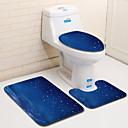 olcso Lábtörlők és szőnyegek-3 darab Modern Fürdőszoba gyékényszőnyegek 100 g / m2 Poliészter kötött sztreccs Mértani Szabálytalan Fürdőszoba Menő
