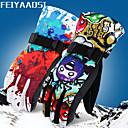 tanie Odzież narciarska i snowboardowa-Rękawiczki sportowe Rękawiczki zimowe Rękawice narciarskie Męskie Damskie Sporty na śniegu Rękawiczki z zakrytymi palcami Zima Odporność na wiatr Ochrona przed deszczem Zatrzymujący ciepło Flanela