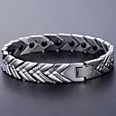 cheap Men's Necklaces-Men's Chain Bracelet Hologram Bracelet - Bracelet Silver For Causal Daily