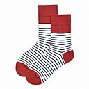 cheap Socks-Unisex Socks Striped Sports Cotton EU36-EU42
