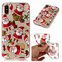 cheap Wedding Wraps-Case For Apple iPhone XR / iPhone XS Max Transparent / Pattern Back Cover Christmas Soft TPU for iPhone XS / iPhone XR / iPhone XS Max