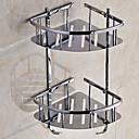 billige Baderomshyller-Hylle til badeværelset Kreativ Moderne Rustfritt Stål 1pc Dobbel Vægmonteret