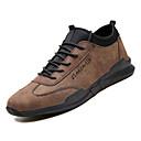 tanie Męskie mokasyny-Męskie Komfortowe buty PU Jesień Casual Adidasy Antypoślizgowe Czarny / Szary / Brązowy