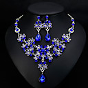 cheap Jewelry Sets-Women's Classic Jewelry Set - Stylish, European, Elegant Include Drop Earrings Necklace White / Red / Blue For Wedding Daily