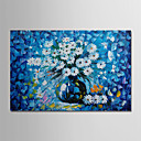 povoljno Apstraktno slikarstvo-Hang oslikana uljanim bojama Ručno oslikana - Sažetak Cvjetni / Botanički Moderna Uključi Unutarnji okvir / Prošireni platno