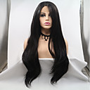 cheap Human Hair Wigs-Synthetic Lace Front Wig Women's Loose Curl Black Layered Haircut 130% Density Synthetic Hair 26 inch Women Black Wig Long Lace Front Natural Black Sylvia / Yes