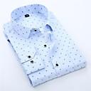 זול אביזרים לגברים-גברים בתוספת חולצה גודל - צווארון גרפי קלאסי