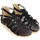 ราคาถูก รองเท้าแตะผู้หญิง-สำหรับผู้หญิง รองเท้าสบาย ๆ หนังนิ่ม ฤดูร้อน รองเท้าแตะ ส้นต่ำ สีดำ / สีชมพู / Almond