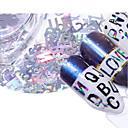 voordelige Nagelfoliepapier-5 pcs Geometrische strass steentjes Milieuvriendelijk Creatief Letter Nagel kunst Manicure pedicure Dagelijks / Festival Modieus
