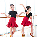 cheap Latin Dancewear-Latin Dance Outfits Girls' Training / Performance Elastane / Lycra Wave-like Long Sleeve Skirts / Top
