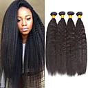 halpa Aitohiusperuukit-4 pakettia Brasilialainen Yaki Straight Remy-hius Aidot hiukset Hiukset kutoo Bundle Hair Yksi pakkaus ratkaisu 8-28 inch Luonnollinen väri Hiukset kutoo Hajuton Paras laatu Tulokas Hiukset Extensions