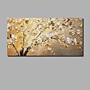 abordables Óleos-Pintura al óleo pintada a colgar Pintada a mano - Abstracto Floral / Botánico Contemporáneo Modern Incluir marco interior / Lienzo enrollado / Lona ajustada