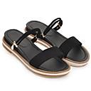 halpa Naisten sandaalit-Naisten Mokkanahka Syksy Sandaalit Tasapohja Valkoinen / Musta / Pinkki