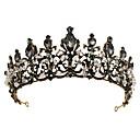 cheap Steampunk-Black Swan Crown Gothic Lolita Baroque Elegant Hoop Earrings Tiaras Forehead Crown For Party Evening Prom Wedding Party Women's Girls' Crystal 1 Pair of Earrings Crown Earrings Black Costume Jewelry