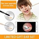 abordables Polvos Compactos-3,9 mm 3 en 1 versión para pc hd oreja visual endoscopio oral 1500 mm - dorado