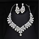 povoljno Komplet nakita-Žene Svadbeni nakit Setovi Klasičan Hiperbola Elegantno Imitacija bisera Naušnice Jewelry Obala Za Vjenčanje Party 1set