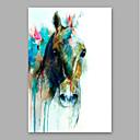 رخيصةأون لوحات رسومات حيوانات-هانغ رسمت النفط الطلاء رسمت باليد - تجريدي الحديث تشمل الإطار الداخلي / امتدت قماش
