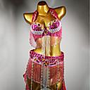 baratos Roupas de Dança do Ventre-Dança do Ventre Roupa Mulheres Espetáculo Elastano Cristal / Strass Sutiã / Cinto