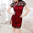 cheap Sexy Uniforms-Women's Suits Nightwear - Lace Jacquard
