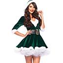 abordables Disfraces de Santa & Vestido de navidad-Mujer Sexy Traje Ropa de dormir - Encaje, Navidad Bloques / Escote en Pico