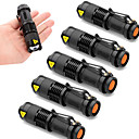 hesapli Fenerler-SK68 LED Fenerler LED Cree XR-E Q5 2000 lm 3 Işıtma Modu Zoomable, Su Geçirmez, Ayarlanabilir Fokus Kamp / Yürüyüş / Mağaracılık, Günlük Kullanım, Polis / Ordu 6pcs Siyah