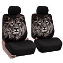 זול כיסויי למושבים לרכב-רכב אוניברסלי המושב הקדמי מלא החבילה כרית תבנית אריה ייחודי לנשום כיסוי המושב