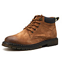 cheap Men's Boots-Men's Combat Boots Pigskin Fall & Winter Boots Booties / Ankle Boots Black / Brown / Khaki