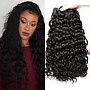 povoljno Ekstenzije od prave kose prirodne boje-3 paketa Peruanska kosa Water Wave Ljudska kosa Netretirana  ljudske kose Wig Accessories Ljudske kose plete Styling kose 8-28 inch Crna Isprepliće ljudske kose Nježno Svilenkast proširenje / 8A