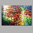cheap Rolled Canvas Paintings-Oil Painting Hand Painted - Abstract Landscape Comtemporary Modern Stretched Canvas / Rolled Canvas
