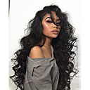 cheap Human Hair Wigs-Remy Human Hair 360 Frontal Wig Brazilian Hair Wavy Wig Deep Parting 150% 180% Density Best Quality Hot Sale Thick Natural Women's Long Human Hair Lace Wig WoWEbony