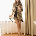 povoljno Ogrtači i odjeća za spavanje-Žene Mašna Sexy Odijelo Noćno rublje Leopard Bijela One-Size / S naramenicama