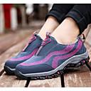 رخيصةأون أحذية رياضية نسائية-نسائي فرو ظبي خريف & شتاء أحذية رياضية المشي كعب مسطخ فوشيا / أحمر داكن
