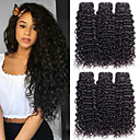 cheap Hair Braids-6 Bundles Brazilian Hair Water Wave 10A Virgin Human Hair Human Hair Extensions 8-28 inch Natural Color Human Hair Weaves Machine Made Silk Base Hair For Black Women 100% Virgin Human Hair Extensions