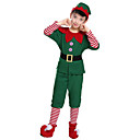 povoljno Božićni kostime-Patuljak Cosplay Nošnje Santa Clothe Dječji Odrasli Boy Muškarci Božić Božić Karneval Dječji dan Festival / Praznik Pliš Terilen Zelen Karneval kostime Odmor