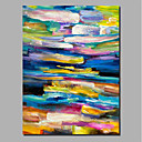 cheap Rolled Canvas Paintings-Oil Painting Hand Painted - Abstract / Landscape Comtemporary / Modern Stretched Canvas / Rolled Canvas
