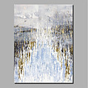 levne DIY Nástěnné hodiny-Hang-malované olejomalba Ručně malované - Abstraktní Krajina Současný styl Moderní Obsahovat vnitřní rám / Válcované plátno / Reprodukce plátna