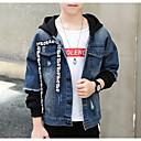 tanie Kurtki i płaszcze dla chłopców-Dzieci Dla chłopców Podstawowy Codzienny Solidne kolory Długi rękaw Regularny Bawełna / Poliester Kurtka / płaszcz Granatowy 150
