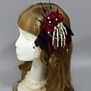 preiswerte Lolita Accessoires-Rozen Kristall Damen Mädchen Kopfbedeckung Totenkopf Niedlich Gothik Kopfbedeckung Stirnbänder Haarnadeln Broschen Für Kopfbedeckung Modeschmuck