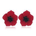 povoljno Modne naušnice-Žene Naušnice Set Klasičan Cvijet Moda Naušnice Jewelry Crvena / Zelen / Lila-roza Za Party Dnevno 1set