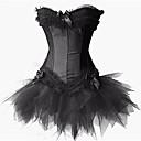 hesapli Dans kostümleri-Siyah Kuğu Vintage Minik Siyah Elbise Zarif Elbiseler Maskeli Balo Kadın's Kostüm Beyaz / Siyah / Kırmızı Eski Tip Cosplay Kolsuz