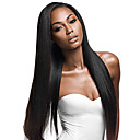 cheap Human Hair Wigs-Remy Human Hair Lace Front Wig Brazilian Hair Yaki Straight Wig With Ponytail 130% 150% 180% Density with Baby Hair Natural Best Quality Hot Sale Thick Natural Women's Short Human Hair Lace Wig