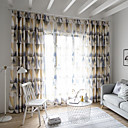 cheap Slipcovers-Curtains Drapes Bedroom Contemporary Polyester Blend Printed
