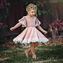 رخيصةأون Lolita فساتين-فستان كم قصير لون سادة أساسي للفتيات طفل صغير