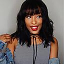 hesapli Gerçek Saç Örme Peruklar-Gerçek Saç Ön Dantel Peruk Bob Saç Kesimi Kısa Bob stil Düz Brezilya Saçı Vücut Dalgası Siyah Peruk % 130 Saç yoğunluğu Bebek Saçlı Doğal saç çizgisi Siyahi Kadınlar İçin 100% bakire Ağartılmış knot