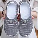 זול נעלי בד ומוקסינים לגברים-בגדי ריקוד נשים PVC קיץ סוגי כפכפים שטוח שחור / אדום / ורוד