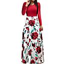 levne Magnetické kostky-Dámské Dovolená Jdeme ven Elegantní Šaty - Květinový, Tisk Maxi Rose